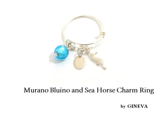 Bangle Ring Loro Bluino And Sea Horse