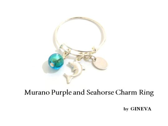 Bangle Ring Loro Sea Green And Dolphin