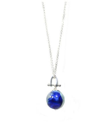 Machiavelli Cobalt Aqua Round Horseshoe Sterling Pendant 859x1024