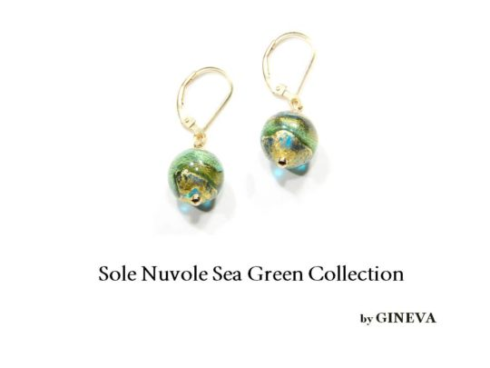 Nuvole Seagreen On Gf Earrings