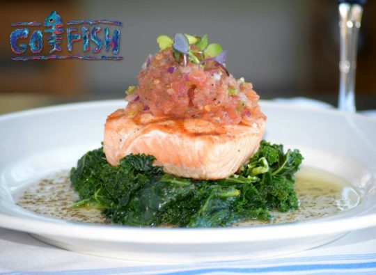 Salmon On Sauteed Greens