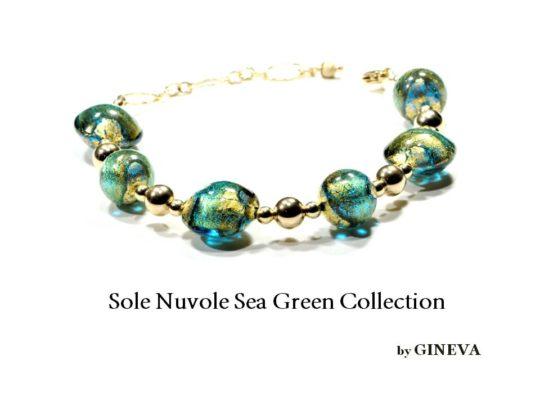 Sole Nuvole Bracelet Seagreen Gf